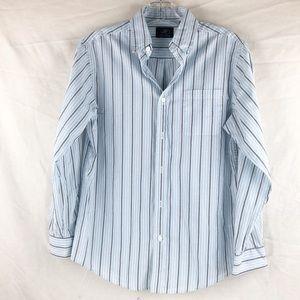 EUC - First Wave Boys striped Dress Shirt Size 14